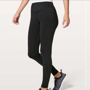Lululemon Perf-ect Your Pace Tight Black Size 4